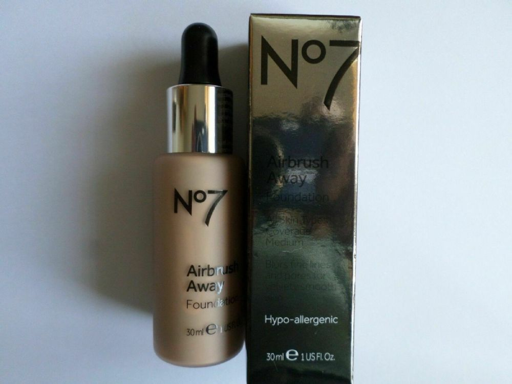 No7 AIRBRUSH AWAY FOUNDATION 30ml SHADE : COOL BEIGE